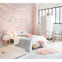 Dressing avec miroir en bois blanc L 90 cm Blush | Maisons du Monde