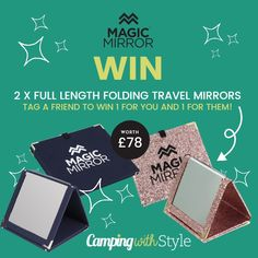 We've teamed up with Magic Mirror to celebrate the launch of their brand new full-length mirror in classic navy & silver, and we've got 2 Magic Mirrors worth £39 each to give away to one lucky winner and the friend that they tag. #competition #win