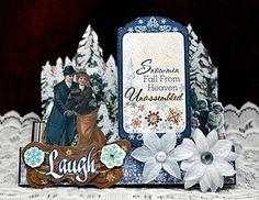 Gorgeous Vintage Christmas Card...Bo Bunny.