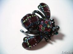 Joan Rivers Enameled Bumble Bee Pin Brooch Multicolor Pave Crystals Jewelry #JoanRivers