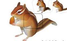 Animal papercraft: Cute chipmunk / squirrel paper model