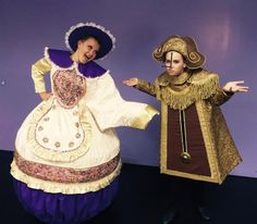 "Jillian Plymale, 13, of Palm City, as Mrs. Potts and Emma Garner, 12, of Palm City, as Cogsworth in StarStruck Academy & Theatre's ""Beauty and the Beast Jr."" (CONTRIBUTED PHOTO BY STARSTRUCK THEATRE)"