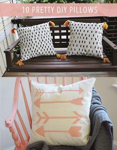 10 Pretty DIY Pillows
