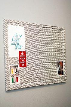 Fabric Covered Cork Boards, aka Inspiration Boards