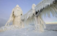 """Gnarly Ice""   St. Joseph Lighthouse 