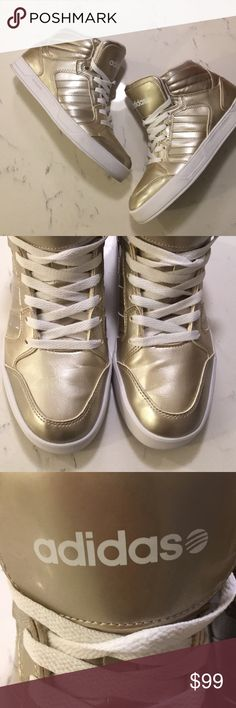 sports shoes c83d1 1ca06  adidas  Neo Label Gold Hi Top Sneakers Worn once, great condition. Gold