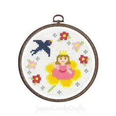Japanese Cross Stitch Kit Tutorial Fairy Tale Thumbelina