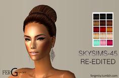 Re-edición del peinado Skysims-045 DESCARGAR: