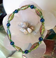 Peacock Bracelet by Candras on Etsy, $19.99