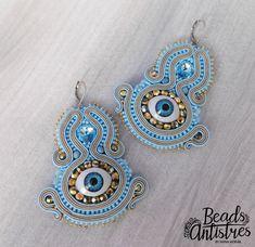 "Beads Antistres soutache earings ""I SEE YOU"" :)"