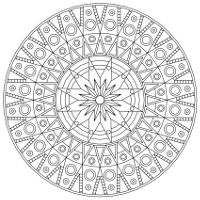 August mandala- poppy and peridot to print and color - png version ...