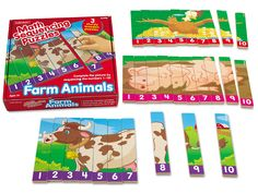 Farm Animals Number Sequencing Puzzles