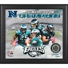 Philadelphia Eagles 2013 NFC East Champs Framed 15'' x 17'' Collage with Game-Used Football - Limited Edition of 500