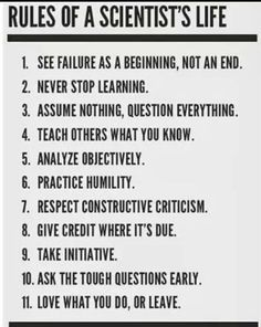 Good rules for everyone else too. From IFLScience