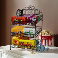 home theater snack bar my hubby LOVES snacks! And our house is famous for them. This would be perfect for our home theater room. Movie Theater Rooms, Cinema Room, Movie Theater Snacks, Theater Room Decor, Movie Rooms, Small Movie Room, Vintage Movie Theater, Theatre Rooms, Tv Rooms