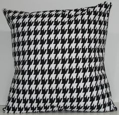 Houndstooth pillow...flannel fabric on slipper chairs with houndstooth pillows for the library...perfect