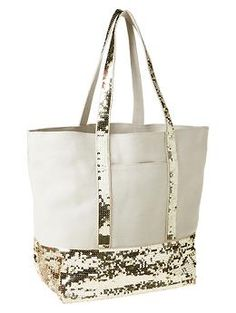 Sequin canvas tote Gap @Madison Scott  Not exactly like mine from last year, but pretty close. Thought you all might be interested :)
