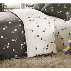 music note material | Music Note king Bedding Set