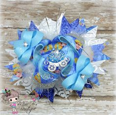 Cinderella Disney Princess Inspired Hair Bow, Over the Top, Stacked Boutique Bow