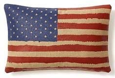 Americana flag pillow for porch...