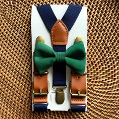 Excited to share this item from my shop: Hunter Green Bow Tie & Suspenders Navy Blue, Christmas Bow Tie, Toddler Suspenders Navy, All Sizes! Navy Blue Suspenders, Navy Blue Bow Tie, Groomsmen Suspenders, Green Bow Tie, Bowtie And Suspenders, Leather Suspenders, Boys Christmas Outfits, Blue Christmas, Christmas Ideas