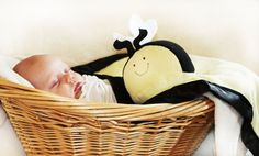 Bumble Bee Security Blanket Lovey Blanket Satin by BBsForBabies, $39.50