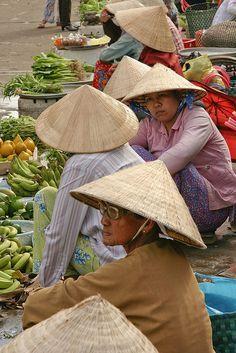 Market, Mekong River delta, Vietnam