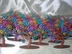 souvenirs árbol de la vida, en fibrofácil pintado a mano