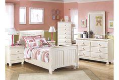 Cream Cottage Twin Sleigh Bed