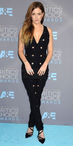 Dior jumpsuit with cut-outs and sequins - Critics Choice Awards 2016