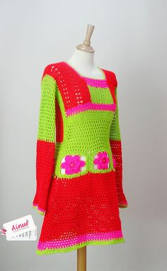 Special  order  AOD from Ainur Crochet Dress Tunic by Ainurcrochet, $250.00