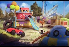 The Encounter, Amusement Park, Concept Art, Environment, Children Books, 2d, Artwork, Inspiration, Travel