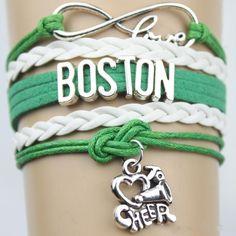 Chicago bulls love infinity braided bracelet, LA lakers love infinity bracelets, Boston Celtics love infinity bracelets, sports fan jewelry by KearcyDesigns on Etsy