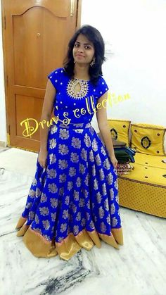 Anarkali Dress Pattern, Saree Dress, Dress Patterns, Kids Blouse Designs, Blouse Designs Silk, Girls Frock Design, Kids Frocks Design, Long Gown Dress, Long Frock
