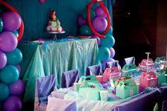 Sally Seymore: Children: Aerial (little mermaid) 4th birthday party