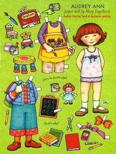 Paper Doll by Mary Engelbreit Audrey Ann Tries Decorative Painting