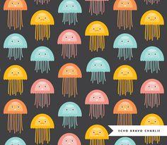 jellyfish print pattern