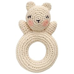 Crochet bear rattle. I want to make this at some point in my life!