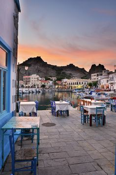 Evening in Limnos Island, Greece