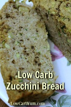 Are you still looking for the perfect low carb zucchini bread? This recipe beats all the other ones I've tried and it's gluten free! Low Carb Sweets, Low Carb Desserts, Low Carb Recipes, Free Recipes, Ketosis Desserts, Gluten Free Zucchini Bread, Keto Bread, Keto Foods, Keto Snacks