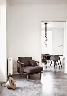 Wood and white interior