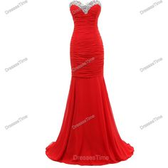 Red prom dress - long prom dress / red evening dress / chiffon party dress / red wedding party dress / long evening dress formal for women ($180) found on Polyvore featuring dresses, gowns, long dresses, long red dress, long prom dresses, long prom gowns, long sleeve evening gowns and prom gowns