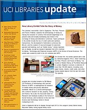 UCI Libraries Update: a newsletter for faculty.
