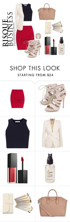 """""""Risque Businesss"""" by erikavossebelt on Polyvore featuring Carvela, Elizabeth and James, Alexander McQueen, Smashbox, Olivine, Givenchy, Dar, business, stylesetter and jazzitup"""