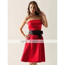 Image result for red and black bridesmaid dresses