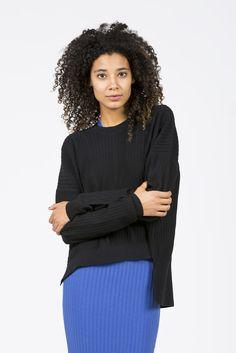 Issy Rib Sweater, Black by Acne Studios  kickpleat  acnestudios Swedish  Brands, Ribbed ca7bfc09224