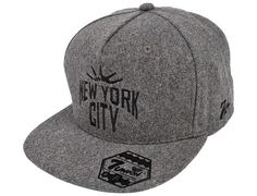 Heather Grey Liberty City Strapback Cap by 7UNION