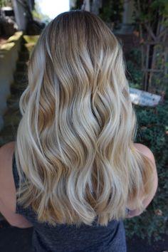 Vanilla Blonde Balayage Highlight. Hair by Abigail Walston