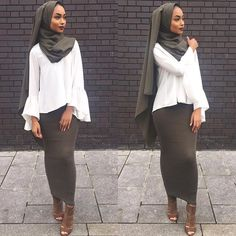 #1 🎈  Skirt from @glammodestythelabel  Top from @primark  Hijab from @blogwithdollyx  Heels from @zara