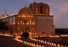 Luminarias at the holidays